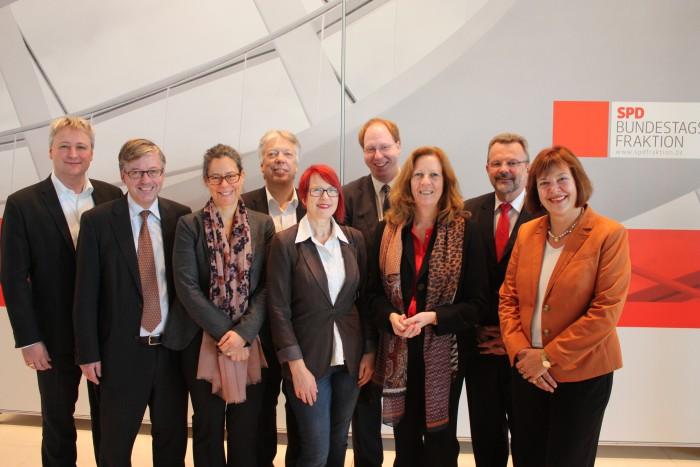 Die Landesgruppe Schleswig-Holstein der SPD-Bundestagsfraktion
